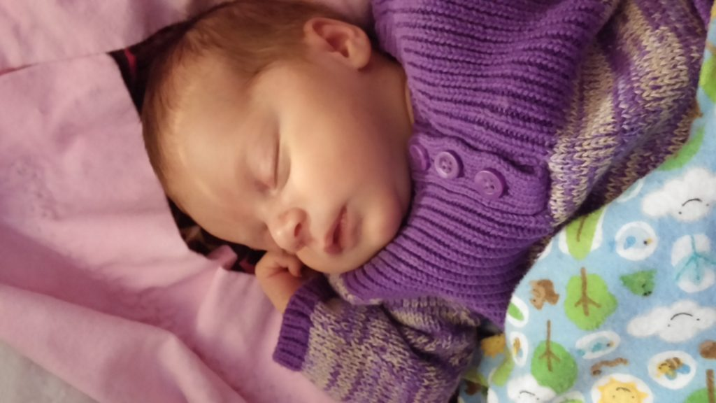 Amanda's baby at one month old