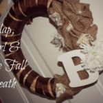 DIY Burlap, Pearl & Lace Fall Wreath