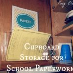 Back to School Organization: Cupboard Storage