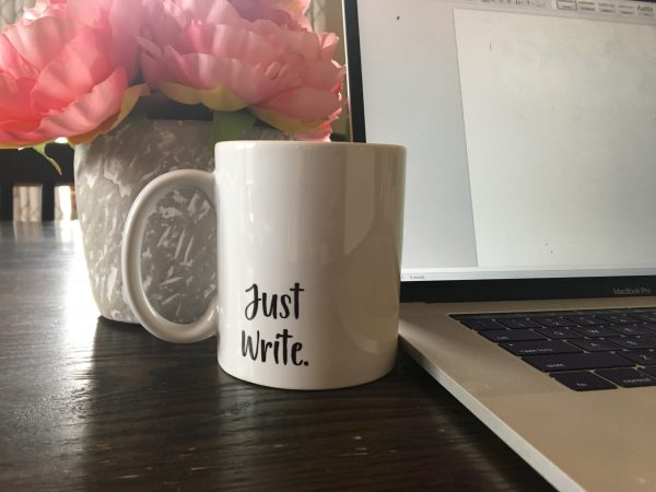 writing coffee mug for moms